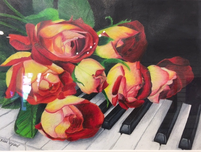 Roses on Piano Chloe Uglow