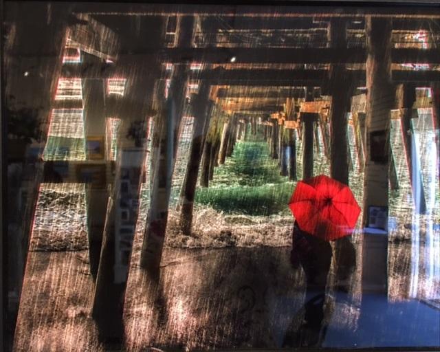 Red Umbrella Delores Lopez